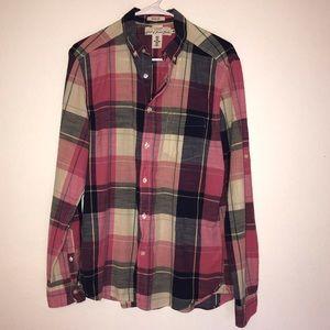 H&M LOGG Pink Flannel Shirt